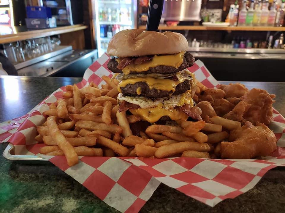 Burgers at Bushys in Lyndon IL